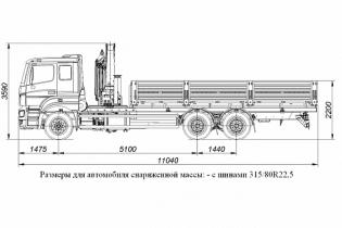 Продажа автомобиля БОРТОВОЙ АВТОМОБИЛЬ С КМУ PALFINGER PK23500A НА ШАССИ KAMAZ-65207 (659000-0000002-01)